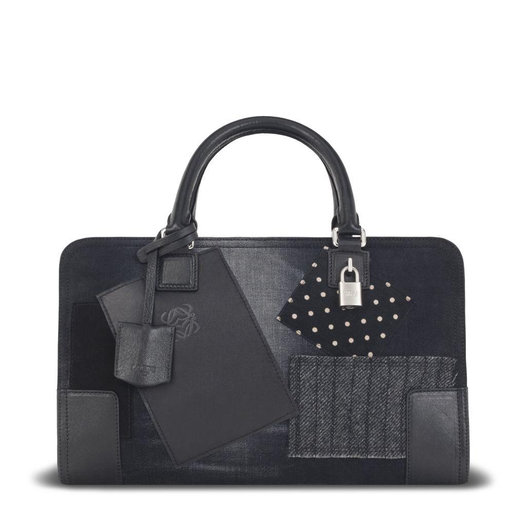 Loewe Junya Amazona Bag_Textile & Calf_Black_HKD 22950