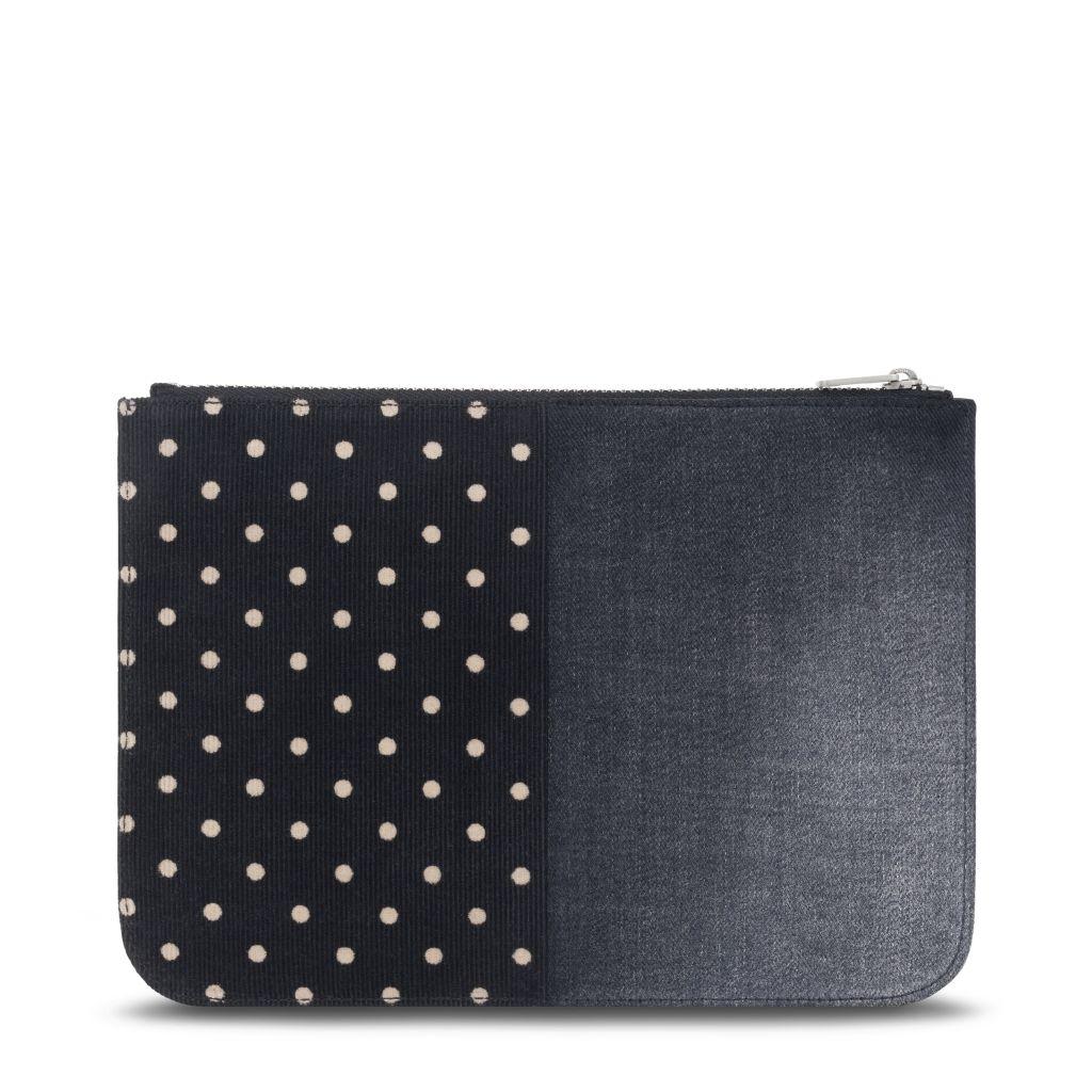 Loewe Junya Medium Pouch_Textile & Calf_HKD 3450