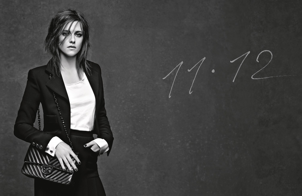 3 GIRLS 3 BAGS - KRISTEN STEWART - 11.12 - AD CAMPAIGN PICTURE BY KARL LAGERFELD_LD