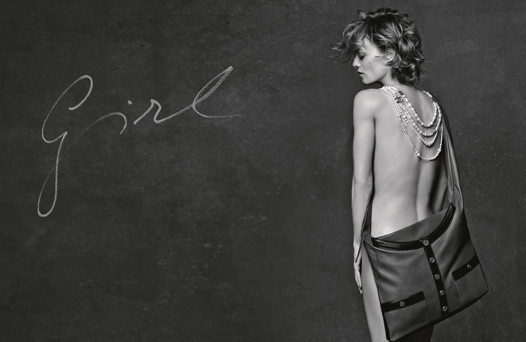 3 GIRLS 3 BAGS - VANESSA PARADIS - GIRL CHANEL - AD CAMPAIGN PICTURE BY KARL LAGERFELD_LD